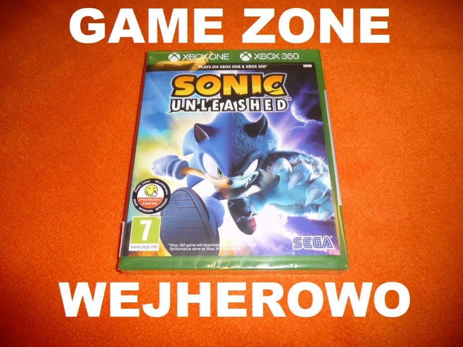SONIC Unleashed Xbox One + S + X + Xbox 360 + Slim + E PŁYTA Wejherowo
