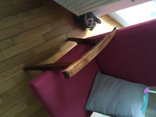 Fotel PRL nowe obicie, nowe wypełnienie
