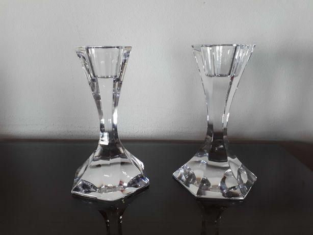 Conjunto de castiçais em cristal Atlantis sem uso