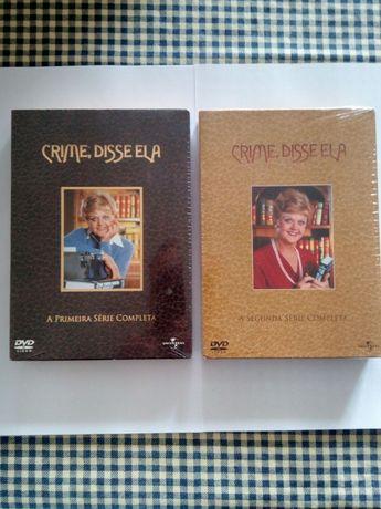 DVD: Série 1 ou 2: Crime, disse ela, NOVO (cada)