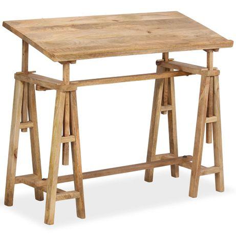 vidaXL Estirador madeira de mangueira maciça 116x50x76 cm 244948