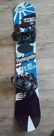 Deska snowboardowa Wedze 153 plus wiązania Airtracks