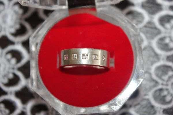 srebrna obrączka 925 z cyrkoniamii - masywna