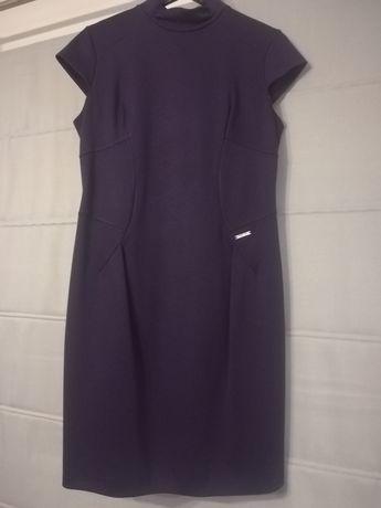 Fioletowa sukienka ciążowa rozm. XL - idealna na nadchodzące Święta!