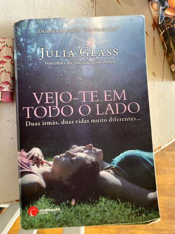 Livro vejo-te em todo lado de Júlia glass