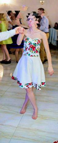 Suknia ślubna, na wesela regionalna, retro