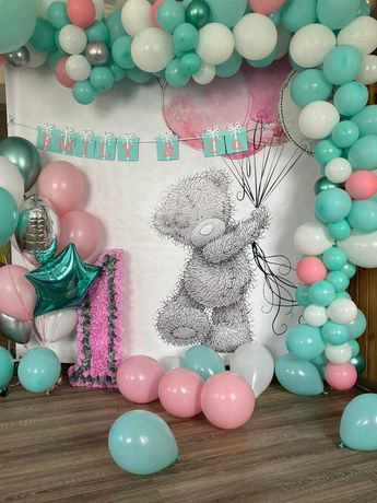 шарики с гелием, фотозоны, баннеры, гирлянды