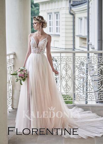 Suknia ślubna - FLORENTINE - Kaledonia - 36/38