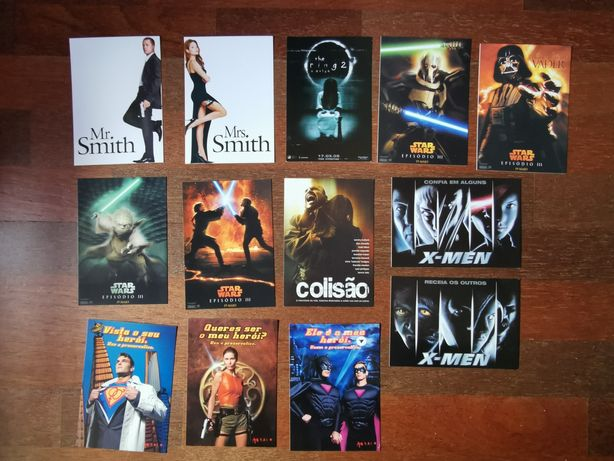 Vendo postais cinema star wars, x-men e outros