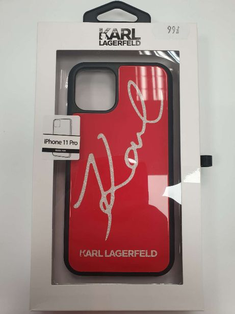 Etui KARL LAGERFELD iPhone 11 Pro Double Layers Tempered Glass Glitter