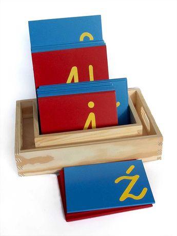 Szorstki alfabet małe litery, szorstkie litery Montessori małe