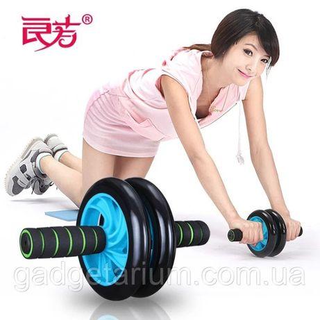 Колесо гимнастическое, колесо для фитнеса, ролик для пресса двойной