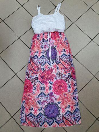 Piękna długa sukienka r 42/44 USA