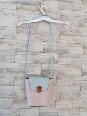 Nowa torebka pudrowa damska
