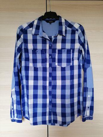 Damska koszula w kratę, niebieska, r. 36, Reserved