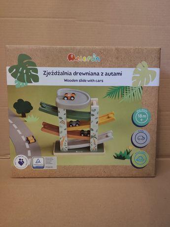 Elefun zjeżdżalnia dla autek - zabawka montessori