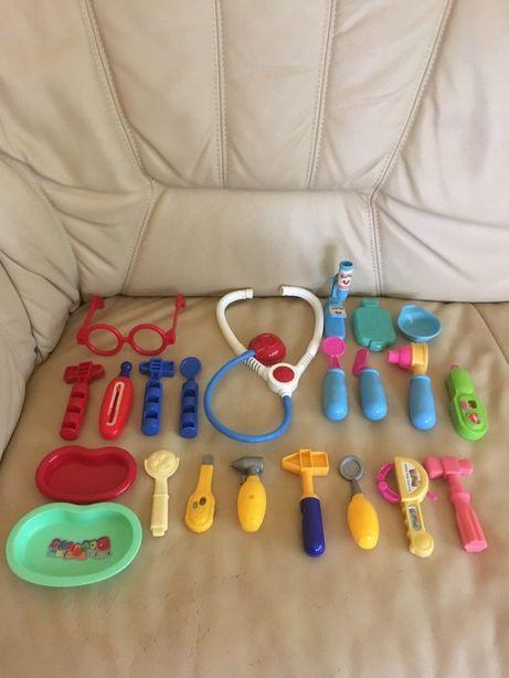 Zestaw lekarski mały lekarz doktor stetoskop