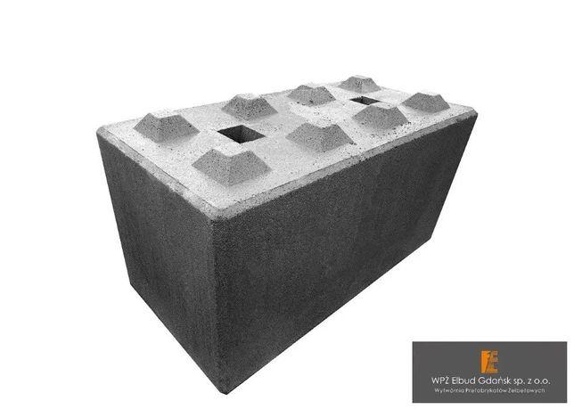 Bloki Betonowe 120x60x60 cm Mur Oporowy Zasieki Mury Oporowe ELKI
