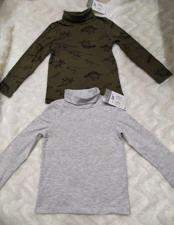 Nowe bluzki dwa golfy dla chłopca rozmiar 92 bawełna