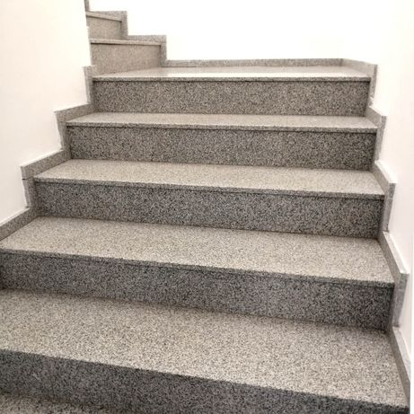 Stopnie Granitowe Schody Szary Granit 150x33x2cm Bianco Płomień