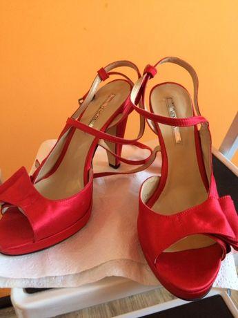 czerwone sandały Venezia