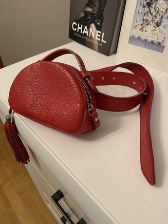 Поясная кожаная сумка Bagpack