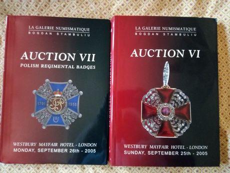 2 catálogos de leilões numismáticos e regimentais