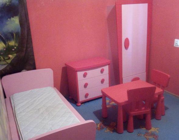 Zestaw MAMMUT ikea Stolik krzeslo łóżko szafa komoda dziecięcy