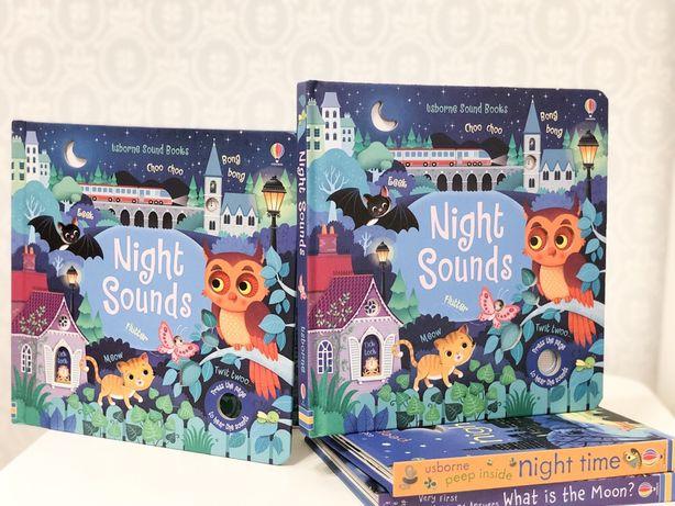 Usborne,Night Sounds книга игрушка с музыкальными элементами