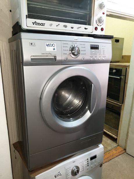 Серебристая стиральная машина LG металлик 4 кг узкая