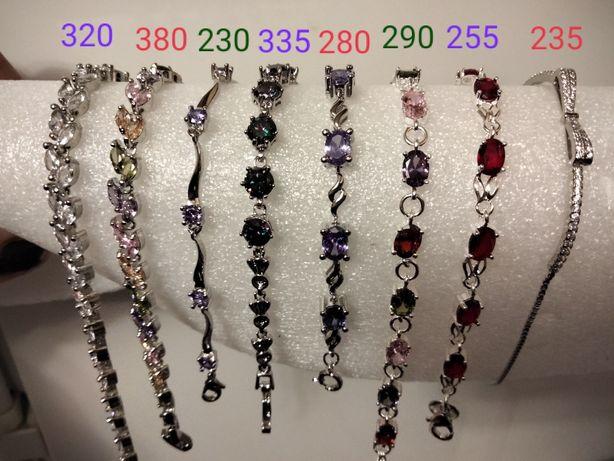 Серебряные браслеты 925 пробы , новые.