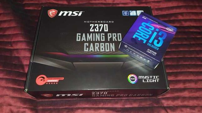 Bundle PC Gaming MSI Z370 Gaming PRO Carbon RGB +INTEL i3-8350K 4.0GHz
