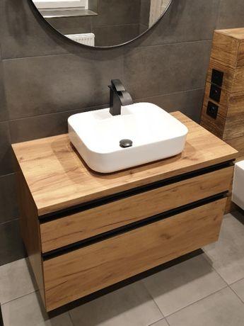 Szafka pod umywalkę na wymiar - prowadnice BLUM - meble łazienkowe