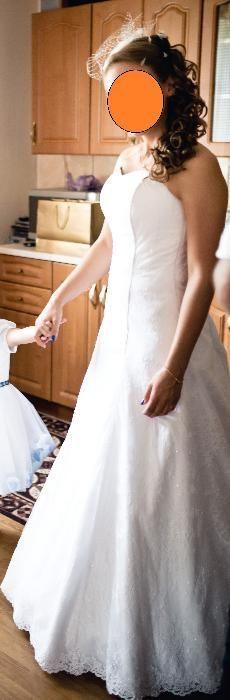 Suknia ślubna z białej koronki, rozm. 38/40 Krzeszowice - image 1