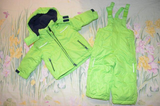 Теплый зимний термо костюм комбинезон 6-12 месяцев Impidimpi