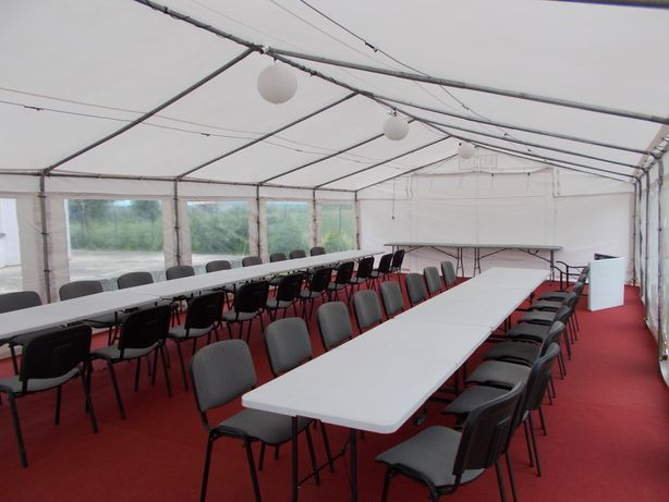 Wynajem namiotów ogrodowych hal namiotowych stołów  wolne terminy