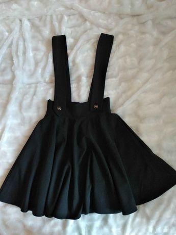 Крутая стильная юбка на подтяжках-сарафан на худышку