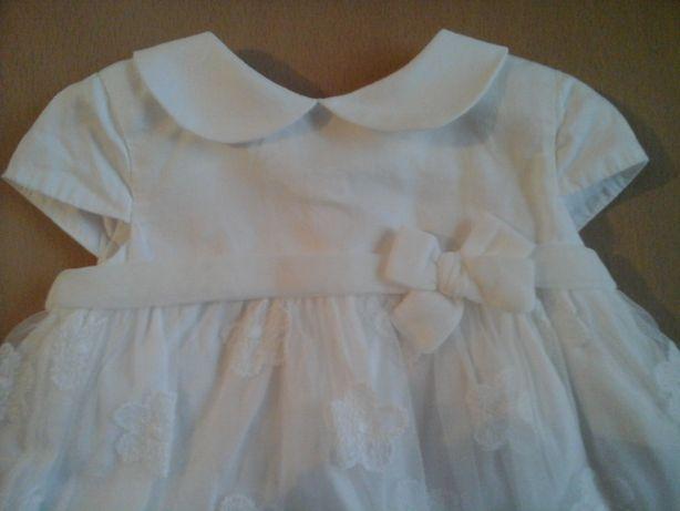 Sukienka mayoral biała do chrztu dziewczynka 4-6 m-ce