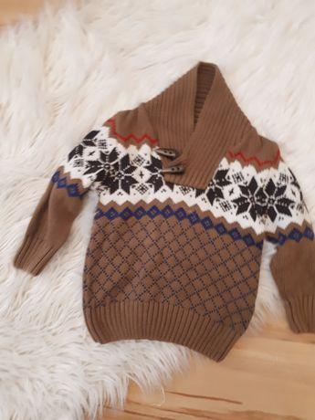 Sweter ciepły chłopięcy kappAhl 86/92