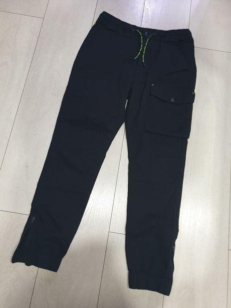Spodnie bojówki czarne chłopięce 164 cm. RESERVED. Nowe!
