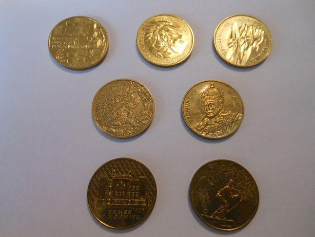 Dwa kompletne roczniki monet 2 zł.