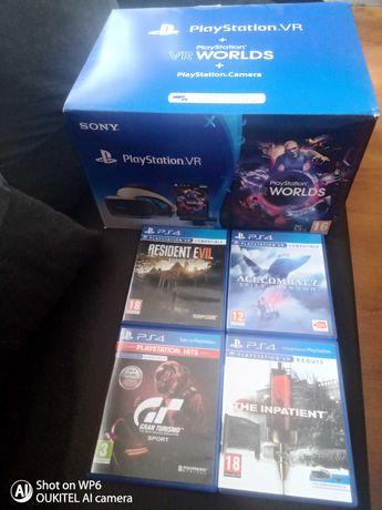 Sprzedam Okulary PlayStation Vr+Vr World's+PlayStation Camera +4gry