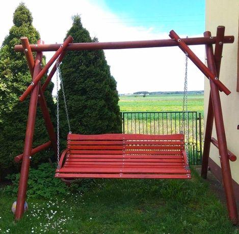 Huśtawka ławka ogrodowa drewniana dla dzieci