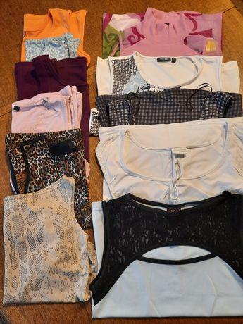 FIRMOWE Bluzki koszulki topy damskie na szerokich ramiączkach r.36-40