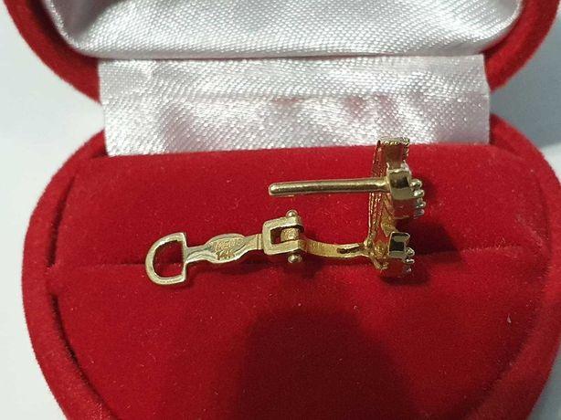 Złoty kolczyk próba 585 2,29g - złom złota