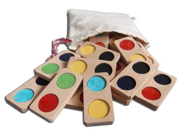 Domino senosryczne Montessori drewniane