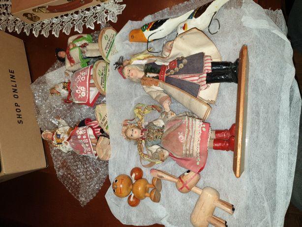 Stare zabawki Cepelia figurki regionalne