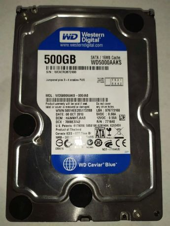 Жесткий диск Western Digital Caviar Blue 500GB