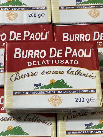 Масло сливочное, фасовка 200г. Burro De Paoli. Италия. Только опт