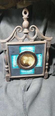 Quadro com azulejo e moldura em ferro